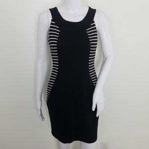 Lafayette 148 New York Black Whit Knit Dress